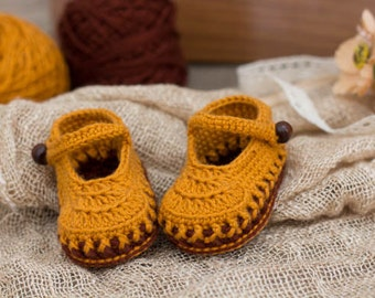 CROCHET PATTERN for Girl Orange -Brown Colors booties - Cheap Crochet Boot Pattern, Booties Pattern, Baby Girl Boots, PDF pattern
