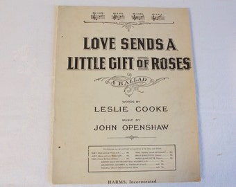 Vintage 1919 Love Sends a Little Gift of Roses Piano music sheet