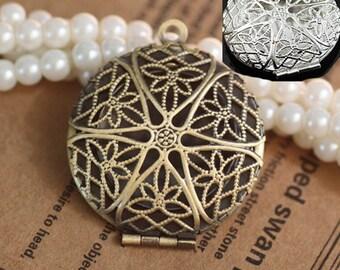 10pcs/lot Locket pendant, vintage style pendant- Lockets for Women-27mm