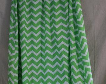 Modest Green Chevron Skirt