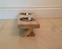 Unique Rustic Dog Feeder Related Items Etsy