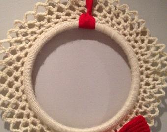 Christmas Wreath/crochet wreath/ crochet Christmas wreath/ Christmas wall decoration/Christmas decor