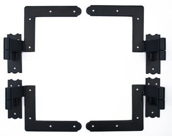 Black Blind Shutter Hinges for Wood Frame -2 pair (4 total)
