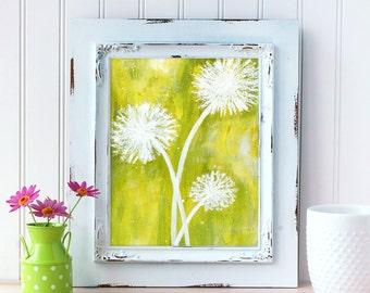 Dandelion Art Print. Flower Art. Home Decor. Flower Wall Art. Mother's Day Gift. Gift for Best Friend. Gift for Mom. Gift for Her. New Home.