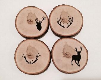 Deer and antler coasters