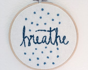 Embroidered Wall Hanging - Breathe