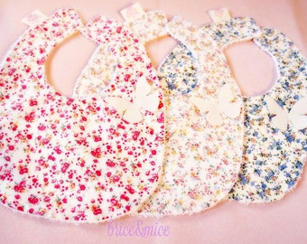Set of 3 sponge bibs for girls-baby bib set-bib for sale-baby boy