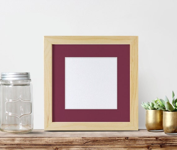 12x12 Frame With 8x8 Mat Unfinished Wood By