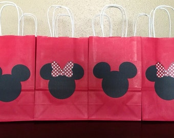 8 Mickey Mouse & Minnie Mouse Party Favor Bags