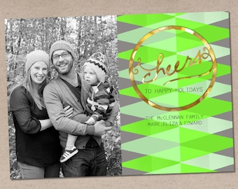Crazy Cool Geometric: Holiday Photo Card