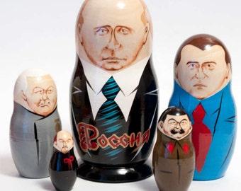 Nesting dolls Putin Russian President matryoshka doll - kod39a