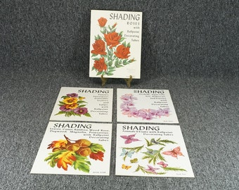 Shading With Ballpoint Decorating Tubes - 5 Book Complete Set C. 1961