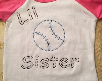 Rhinestone Baseball Shirt