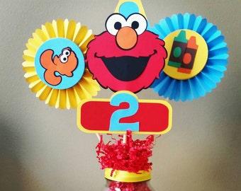 Elmo Centerpiece, Elmo Rosette, Elmo Birthday, Elmo Party, Elmo's World Birthday, Elmo's World, Sesame Street