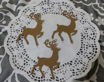 Reindeer Die Cuts Embellishments: Kraft