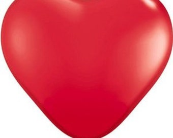 "30"" Red Heart Balloon"