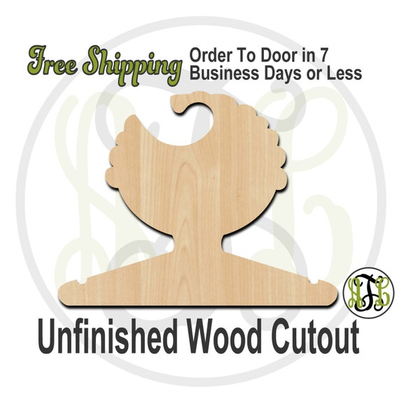 Boy Curly Closet Hanger - Adult or Child Size Cutout, unfinished, wood cutout, wood craft, laser cut shape, wood cut out, DIY, Free Shipping