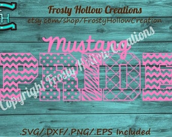 Mustang Pride cutting file SVG, DXF, EPS instant download