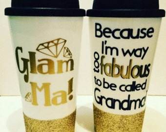 Glam Ma Glitter To Go Coffee Cup