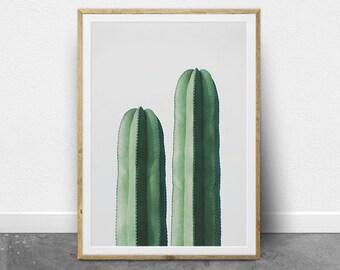 Cactus Wall Art, Downloadable Art Print, Succulent, Printable Wall Art, Cactus Photography, Arizona, Desert Art, Mexican, Green Wall Print