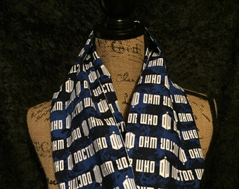 Doctor Who Scarf Doctor Who Blue Tardis Infinity Scarf Doctor Who Name Infinity Scarf