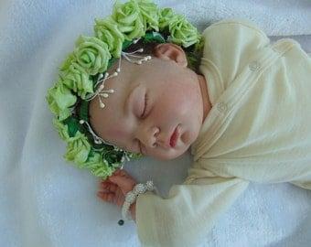 Floral baby photo prop crown
