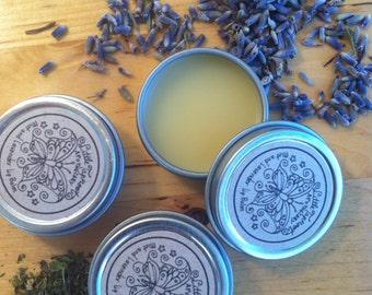 Mint and Lavender Lip Balm - lip salve, vegan lip balm - 7 g (0.25 oz.)