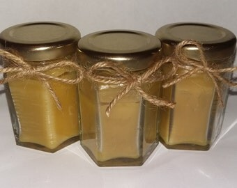 Set of 3 Handmade Beeswax Candle Jars