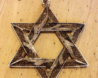 Sterling Silver - STAR OF DAVID Charm Pendant or Best Offer
