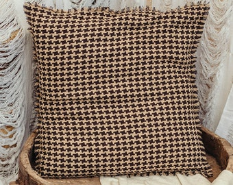 floor cushion cover 24x24 pillow cover decorative large throw pillow cover in beige brown