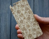 Rose Flower Woodback Wooden Skin Case iPhone 5 5s 6 Real wood Christmas gift Style Choose the Wood Natural Owl style
