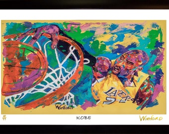 70% SALE - Kobe Bryant Fine-Art LIMITED Edition Paper Print From an Original Hand-Painted (Not DIGITAL/Computer) Artwork By Winford