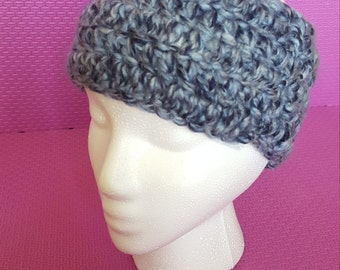 Blue crocheted Headband