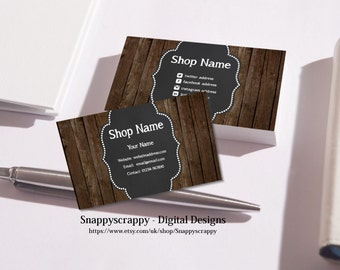 Business Cards, Premade Business Card, Printable Business Card, Digital Business Card Template - Cupcakes,