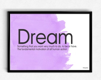 Unique Dream Definition Related Items Etsy
