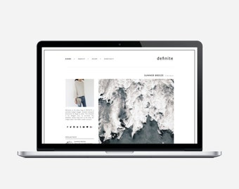 DEFINITE - Premade Blogger Template - Very Simple, Minimalist, Affordable