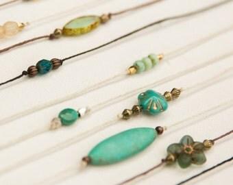 Boho Choker Necklace, Bohemian Choker, Tiny Necklace, Coachella, Hippie Chic, 70's jewlery, burning man, music festival necklace, gypsy