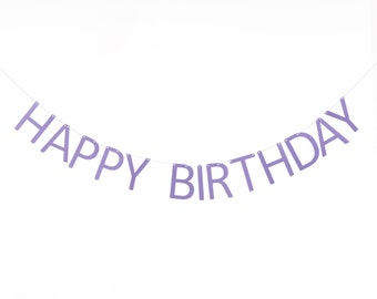 Happy Birthday Banner, Birthday Decor
