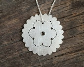 Sterling Silver Doily Necklace