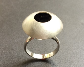 Sterling Silver Blue Hole Ring