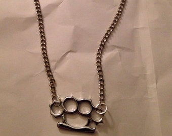 Knuckle Duster Knuckleduster Necklace 14-16 inches