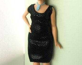 Curvy doll clothes - dress, evening dress. NO VELCRO