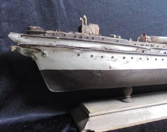 "German vintage carcass of training ship of the German Navy ""gorch fock"" 1958/bloum & voss hamburg"