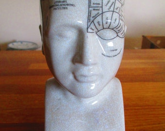medium size phrenology head by l.n. fowler ref 8