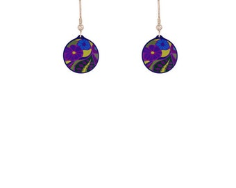 Garden Purple Earrings