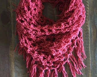 Coral Triangle Fringe Scarf