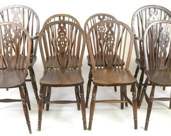 Walnut Windsor Chairs (Set of 8)