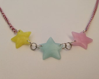 Pastel Stars Necklace