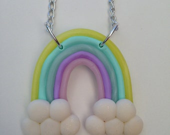 Pastel Rainbow Necklace