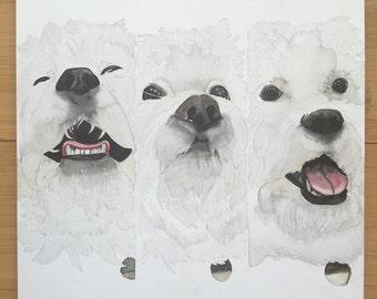 Custom watercolor pet portrait